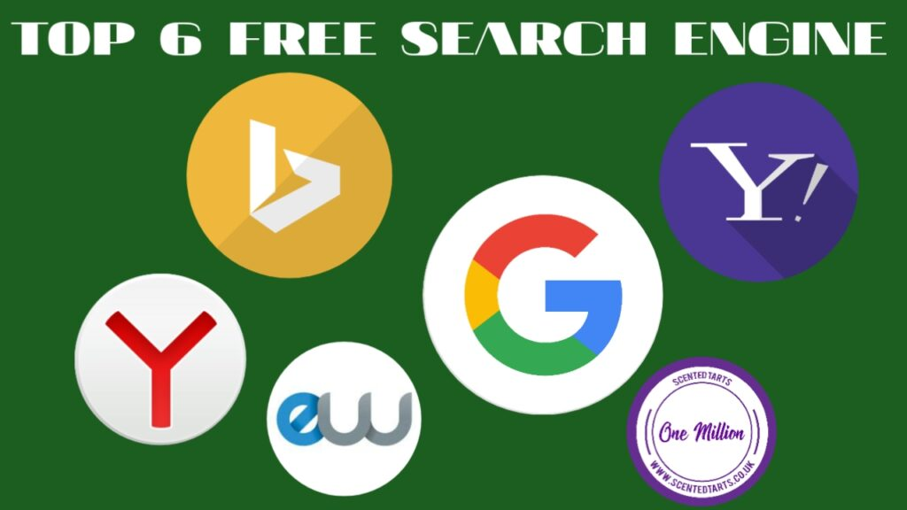 Top 6 Free Search Engines Submission Site List